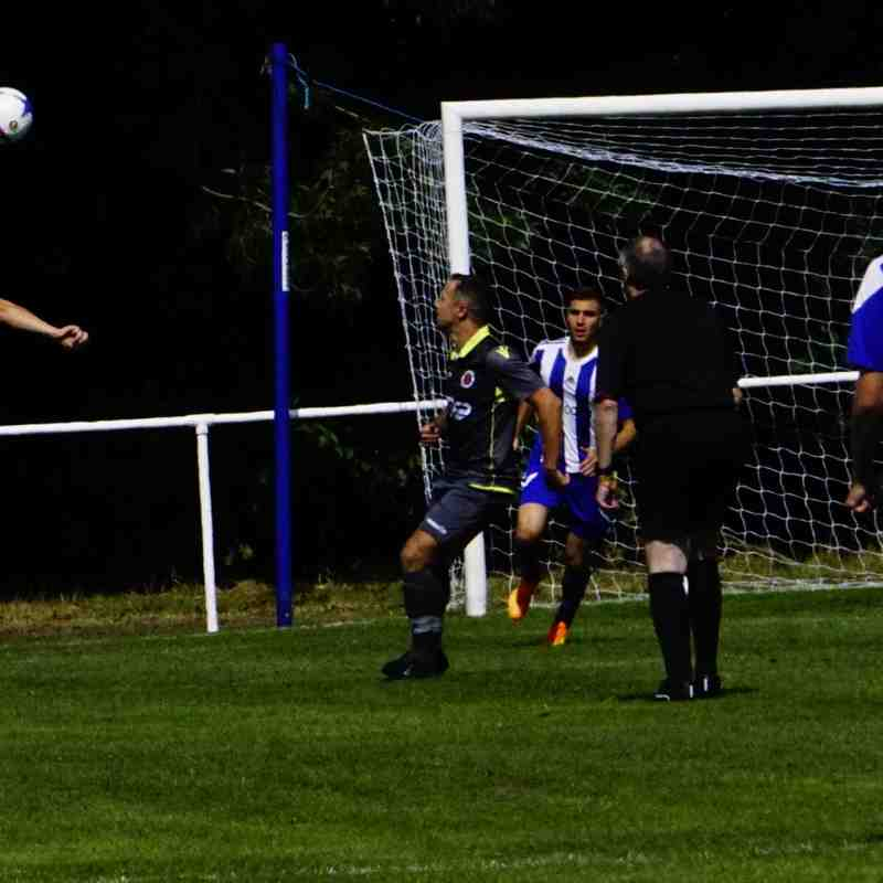 Matty Hunt clears vs Darlaston Town (A) courtesy of Mathew Mason