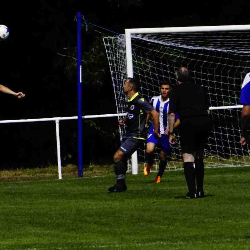 Matty Hunt clears vs Darlaston Town (A) courtesy of Mathew Mason