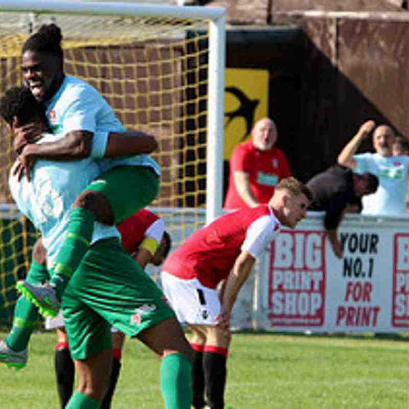 Coventry celebrate vs Coventry United - photo courtesy of Jeff Bennett