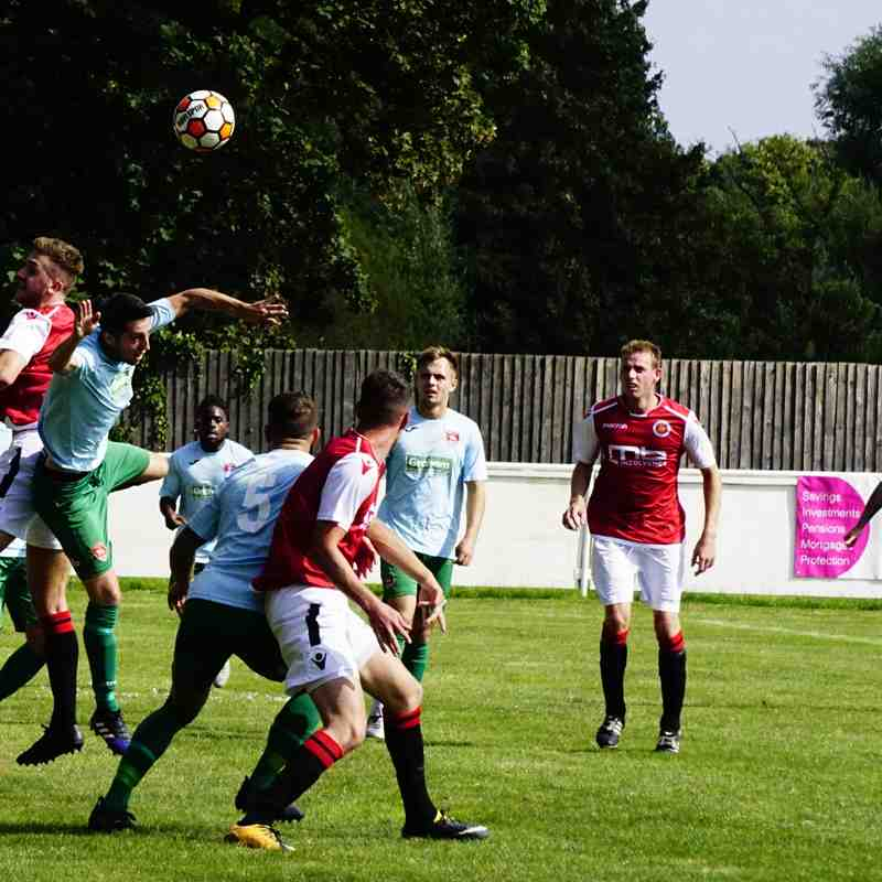 Spa defend vs Coventry United - photo courtesy of Mathew Mason