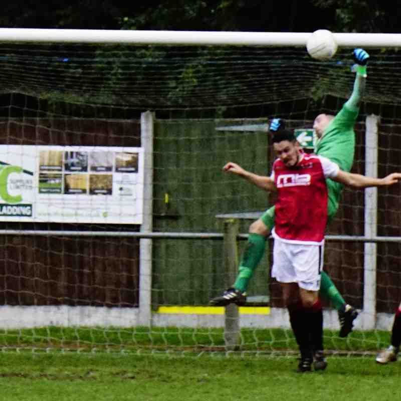 Matt Oliver saves vs Newport Town (A) photo courtesy of Mathew Mason