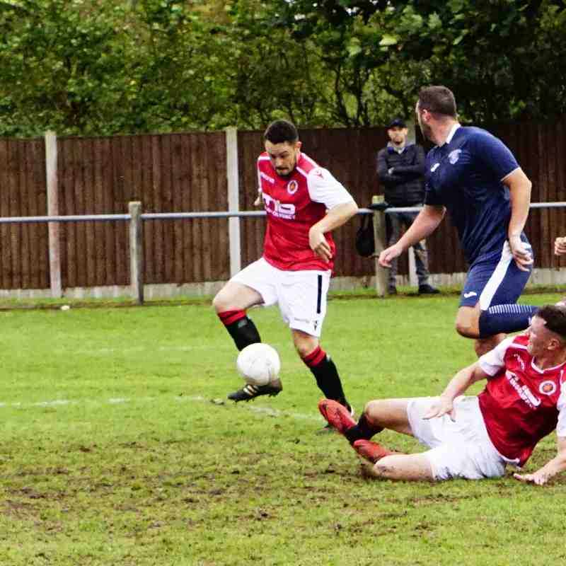 Matty Hunt has a chance vs Newport Town (A) photo courtesy of Mathew Mason