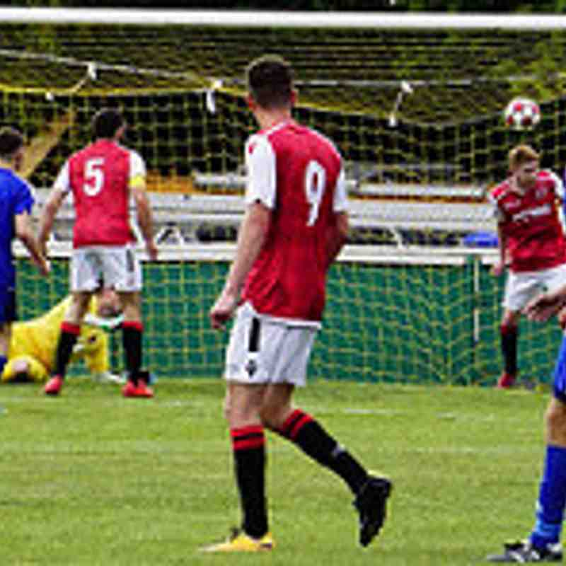 Haydn Morris with goal-line clearance vs Sikh Hunters (H) photo courtesy of Mathew Mason