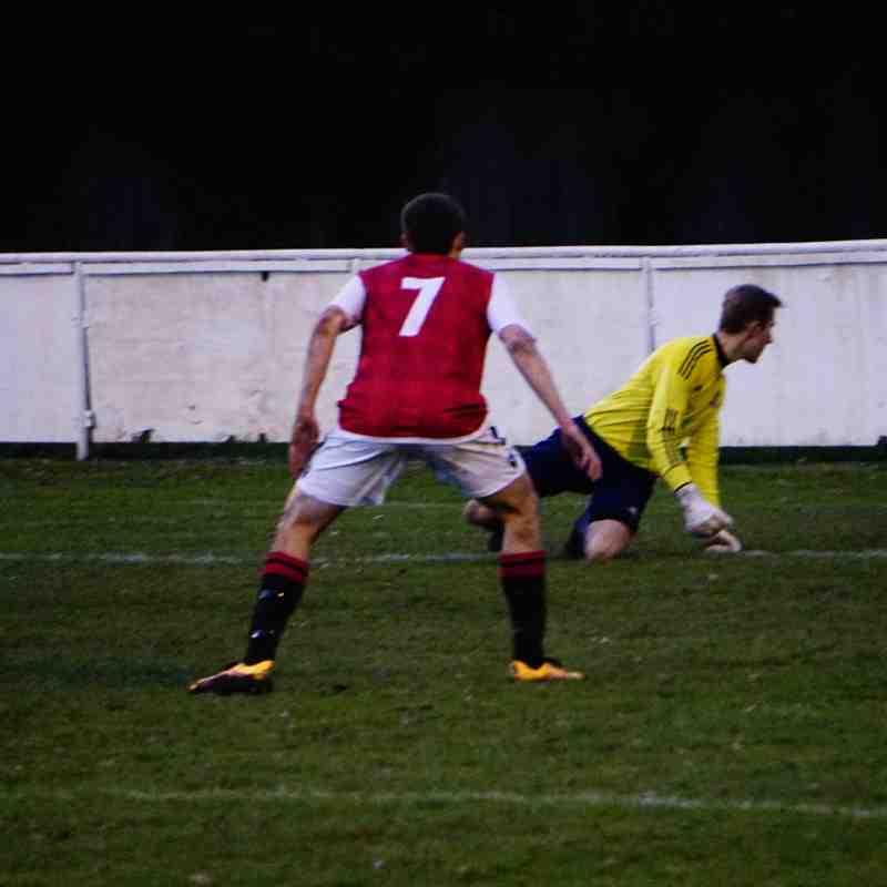 Tilbury's shot goes wide vs Allscott (H) photo courtesy of Mathew Mason