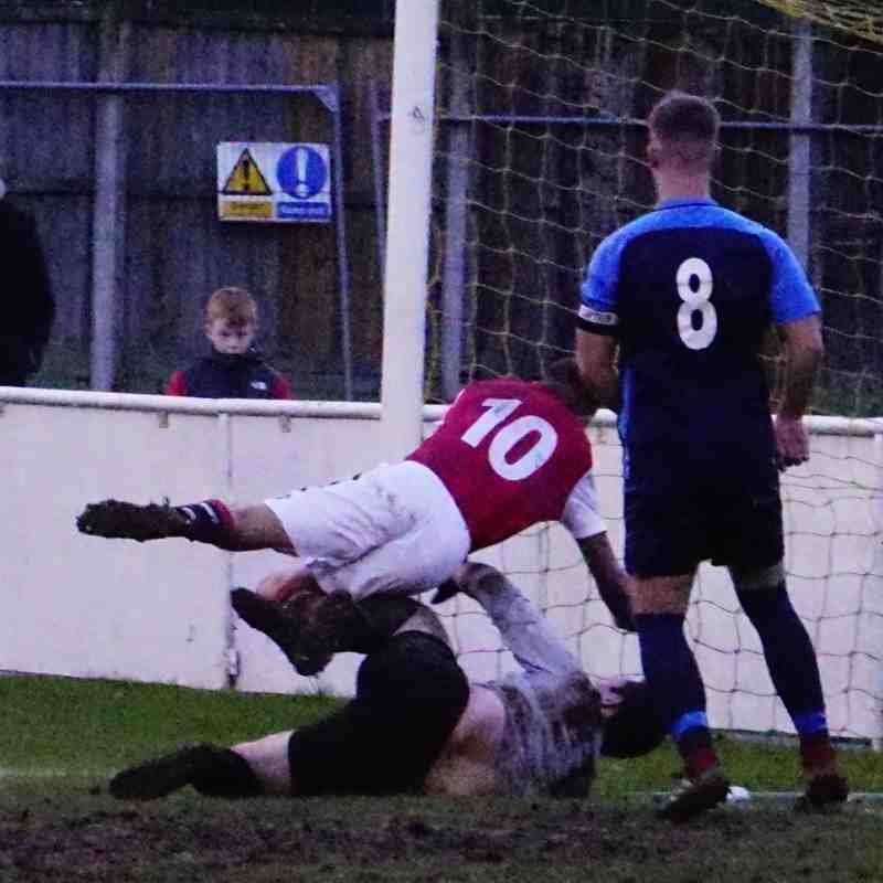 Dan Cottrill scores vs Telford Juniors (H) photo courtesy of Mathew Mason