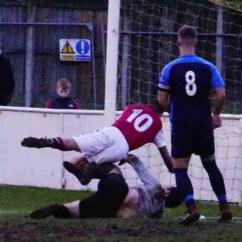 Dan Cottrill scores vs Telford Juniors (H) photo courtesy of Mathew Mason