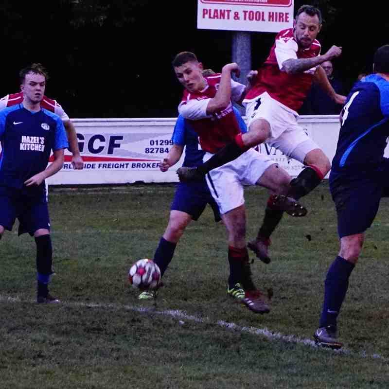 Spa attack a  corner vs Telford Juniors (H) photo courtesy of Mathew Mason