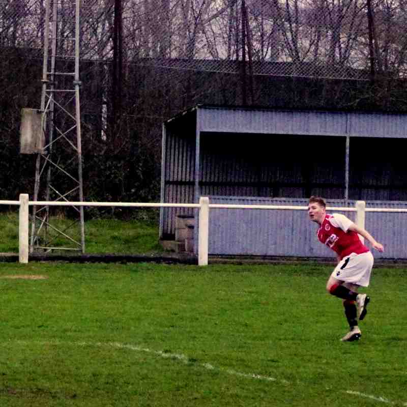 Haydn Morris hits the wood-work vs Bustleholme (A) photo courtesy of Mathew Mason