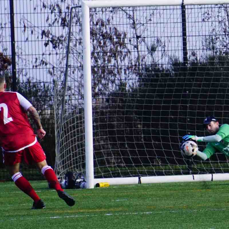 Matt Oliver saves vs Telford Juniors (A) photo courtesy of  Mathew Mason