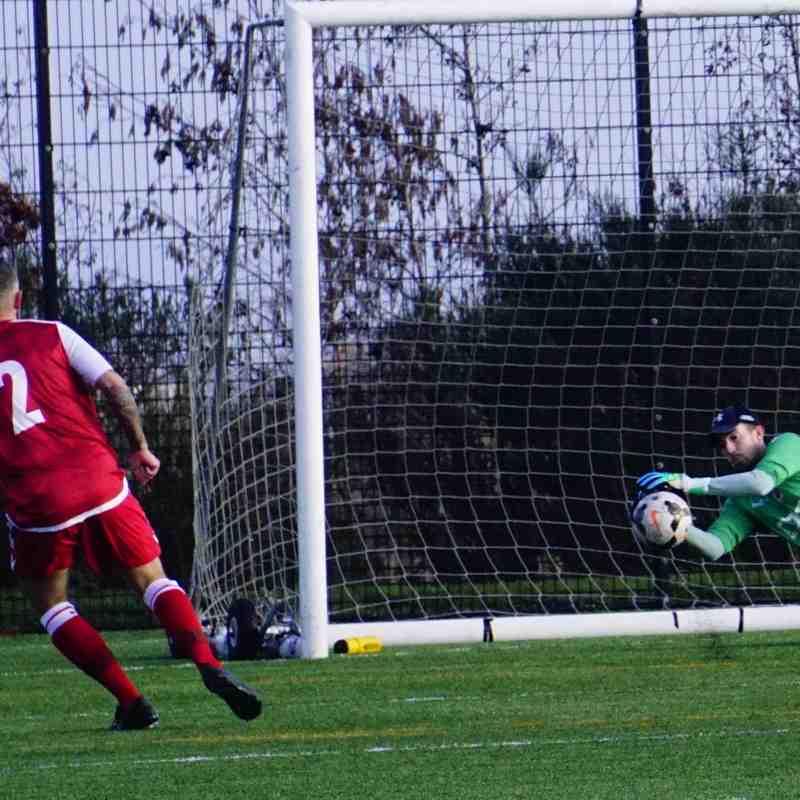 Matt Oliver saves vs Telford Juniors (A) photo courtesy of  Mathew Mason