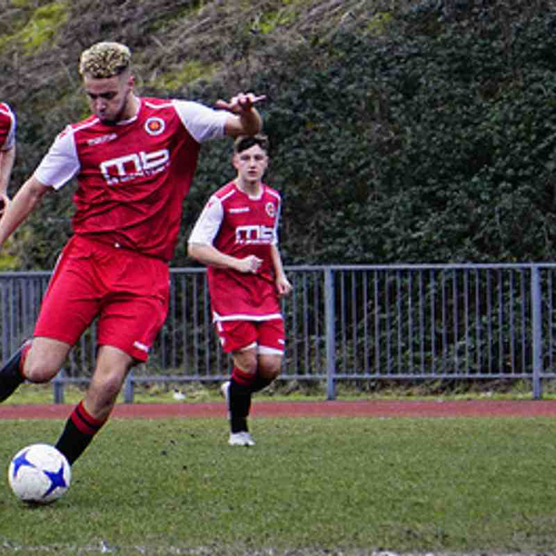Ben Tilbury shoots vs Tipton Town (A) photo courtesy of Mathew Mason