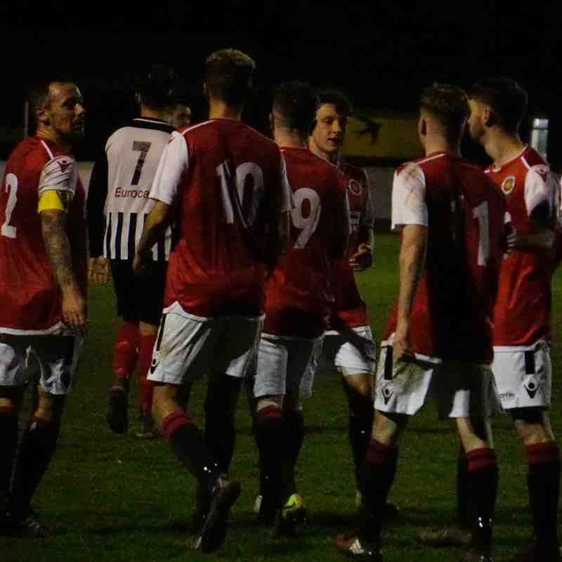 Spa celebrate the opener vs Wyrley (H) photo courtesy Mathew Mason
