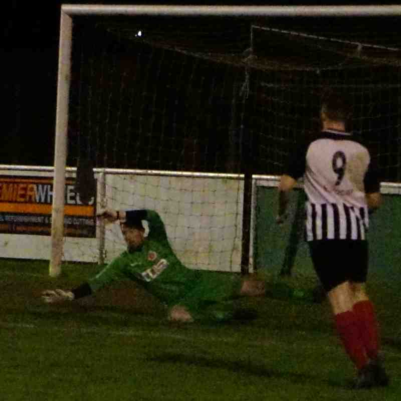 Matty Oliver saves vs Wyrley (H) photo courtesy Mathew Mason