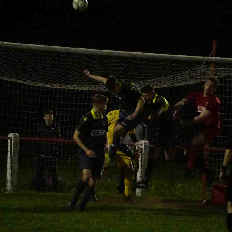 Spa defend a corner vs Willenhall Town (A) photo courtesy of Mathew Mason