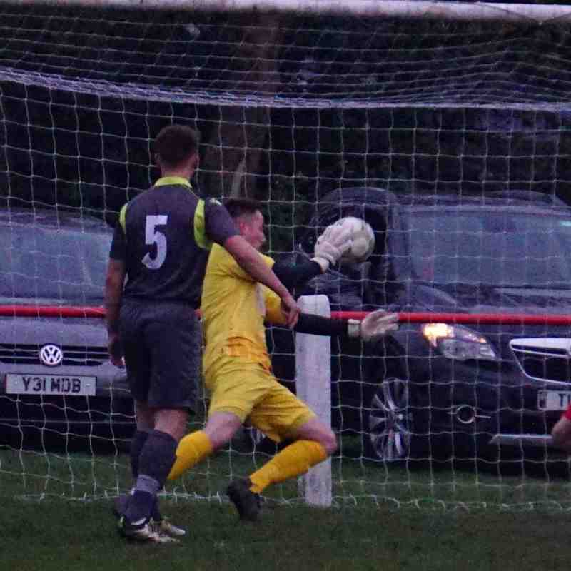 Matt Oliver can't stop the hosts equaliser vs Willenhall Town (A) photo courtesy of Mathew Mason