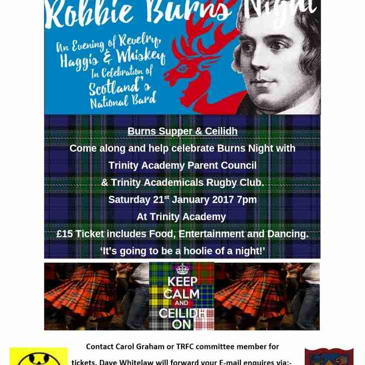 Trinity - Burns Supper sold-out