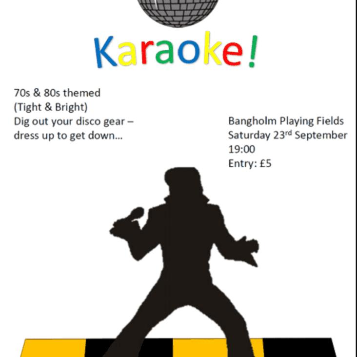 Karaoke 70-80s theme, Sat 23rd September 7pm