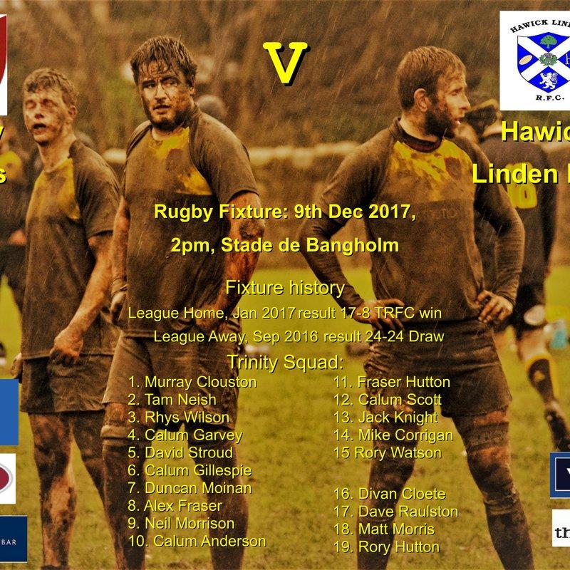 Next match: Trinity v Hawick Linden 09-12-17