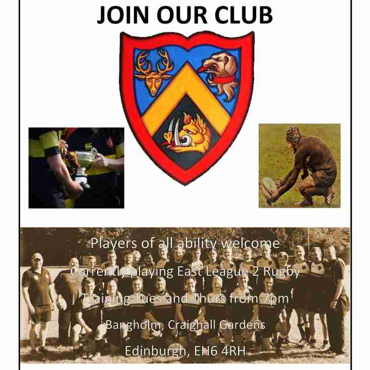Trinity Academicals Join Us Poster 2018