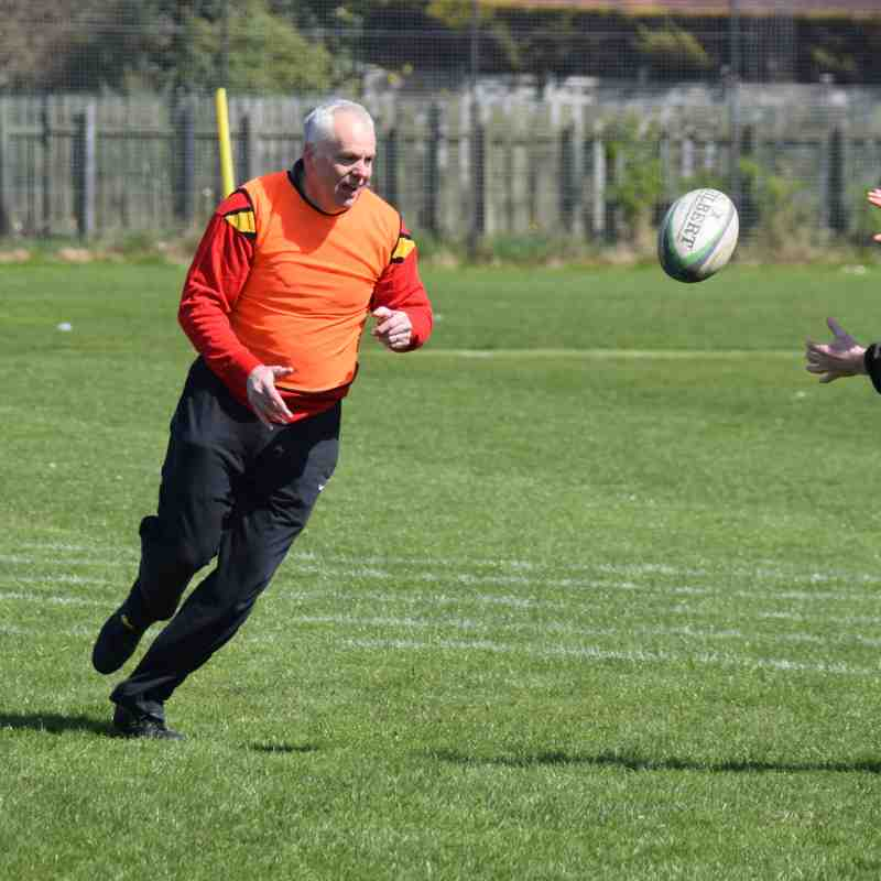 End of season Trinity Accies touch rugby fun 28/04/18