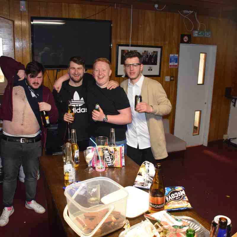 28/04/2018 Photos of our last night in Bangholm clubhouse before demolition