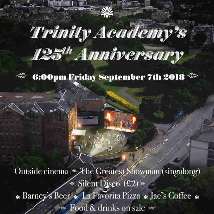 125 years of Trinity Academy, Celebration Event 6pm 7th September