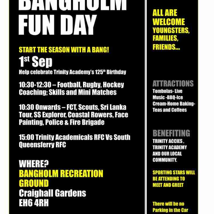 Bangholm fun day, Saturday 1st September 2018