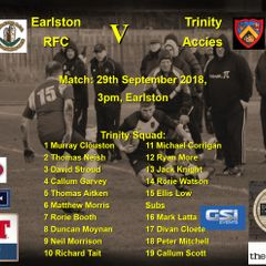 Earlston RFC 26 v Trinity Accies 20  29-09-18