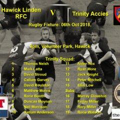 Hawick 27 v Trinity 18  06-10-18