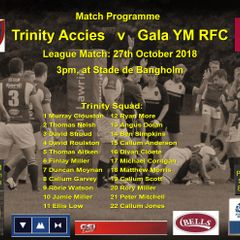 Trinity Accies 28 v Gala YM RFC 12  27-10-18