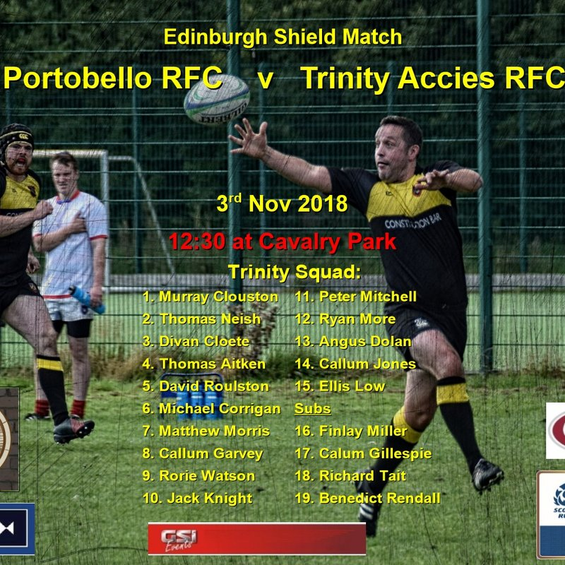 Porty RFC    v   Trinity Accies RFC