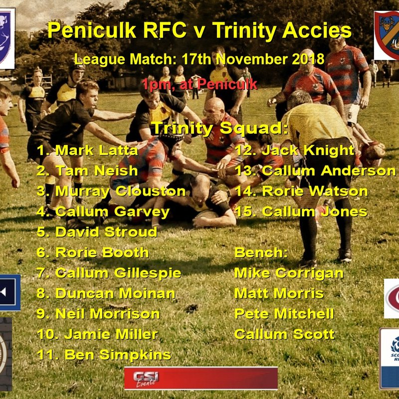 Peniculk RFC v Trinity Accies