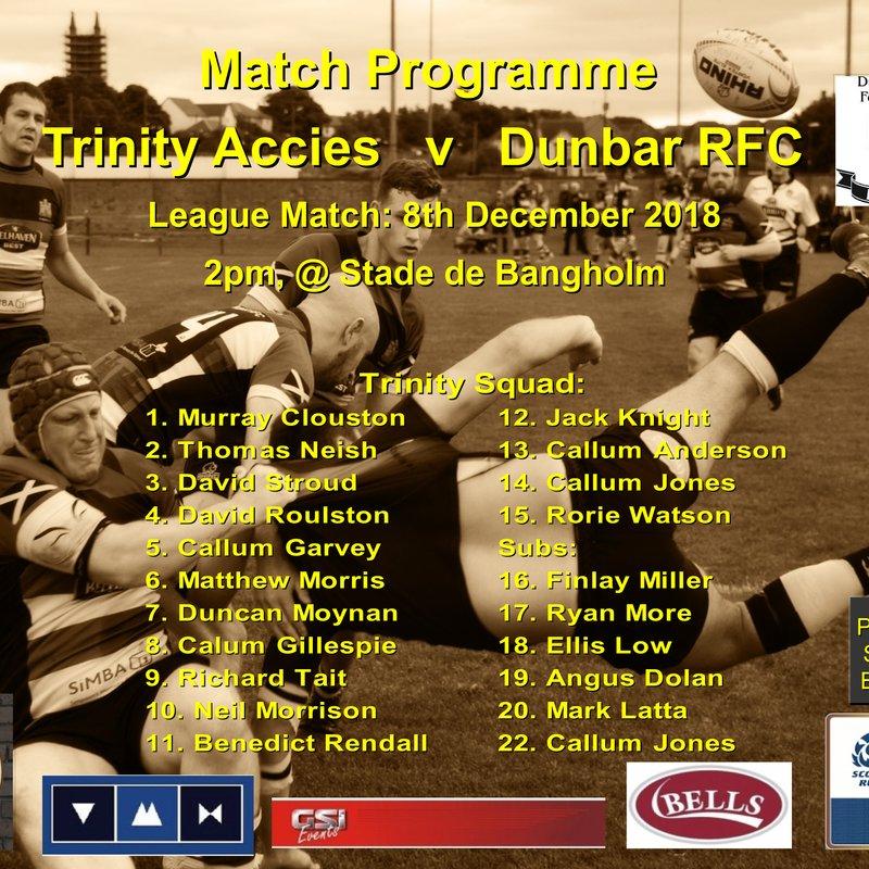 Trinity Accies v Dunbar RFC
