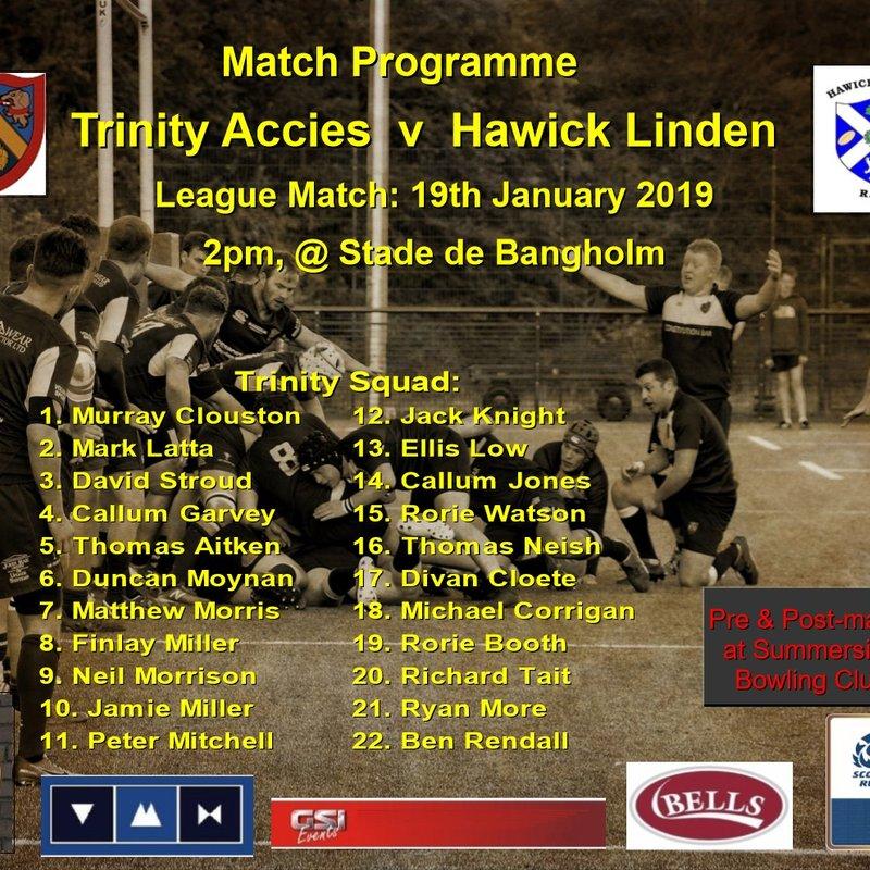 Trinity Accies  v  Hawick Linden