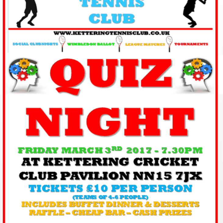 Quiz Night - Friday 3 March