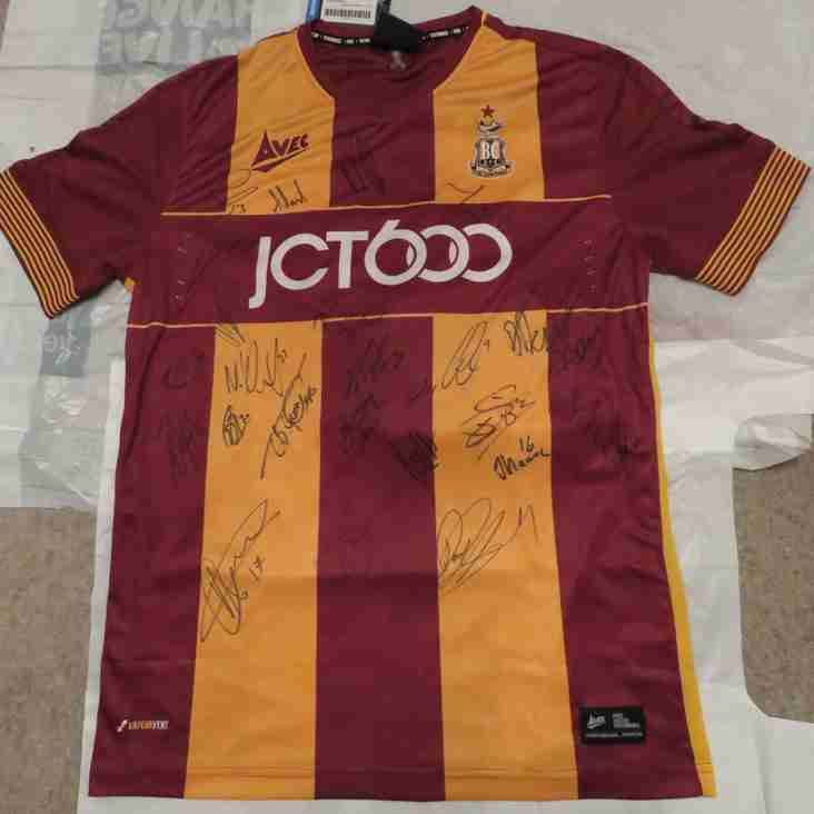Bradford City 2017/18 Signed Shirt Auction - BID NOW!
