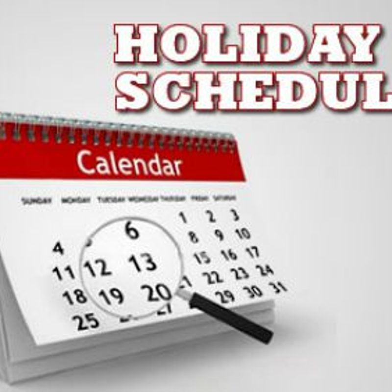 WF Session Schedule for Christmas and New Year