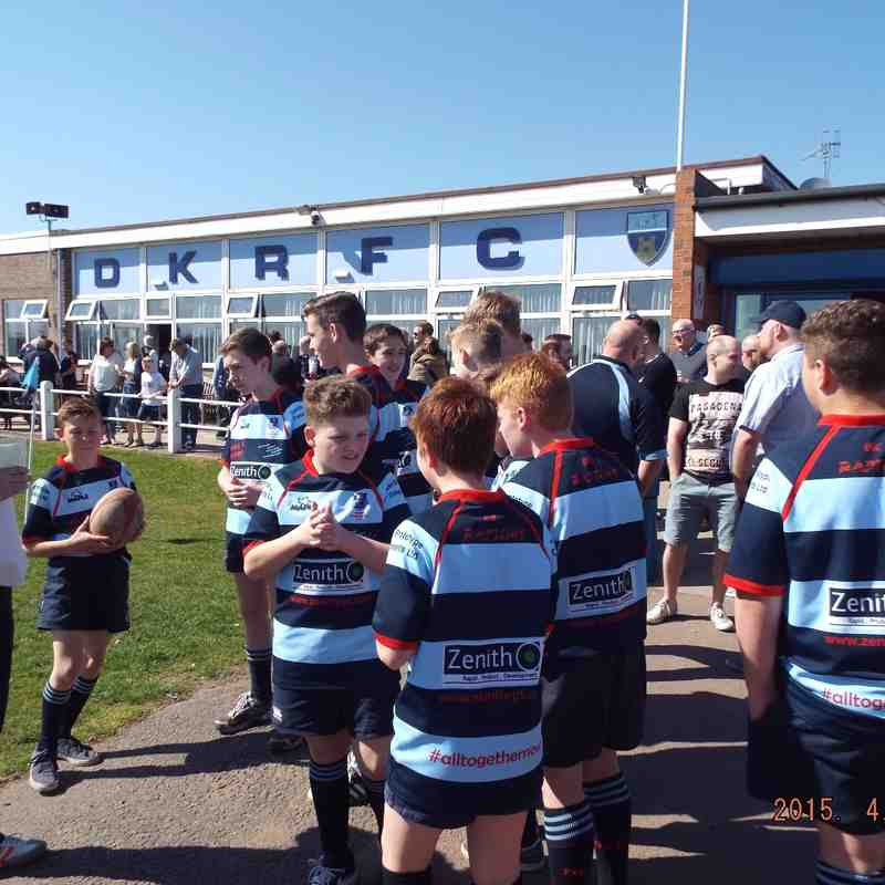 U13's 1st XV Guard of Honour 18-04-15