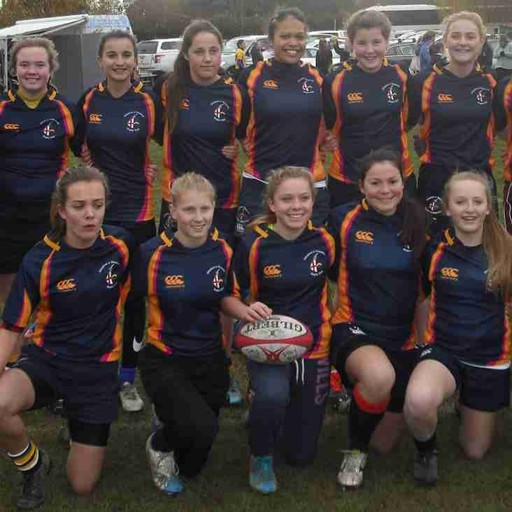 Our under 15's girls win the Hampshire 7's