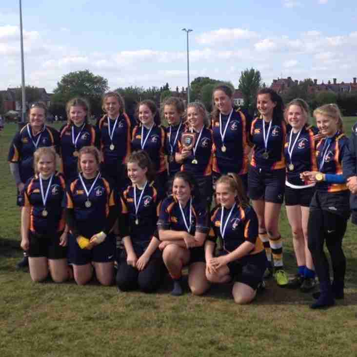 Our under 15's girl's win the St George's tournament