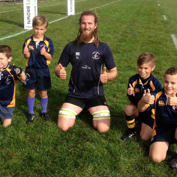 Our under 8's are this week's 1st XV mascots