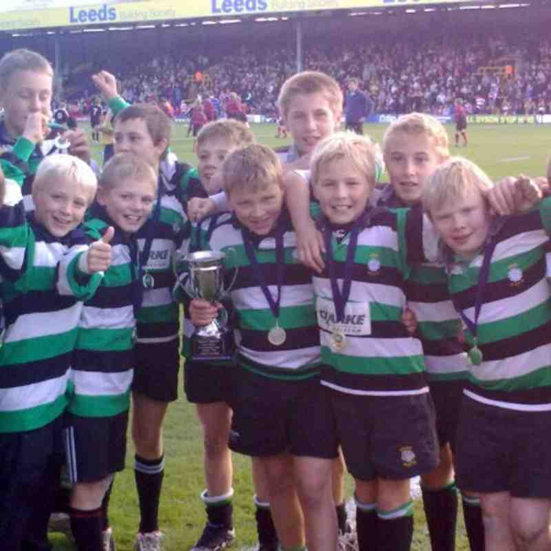 U12s Landrover Cup Winning Team 09/10 season