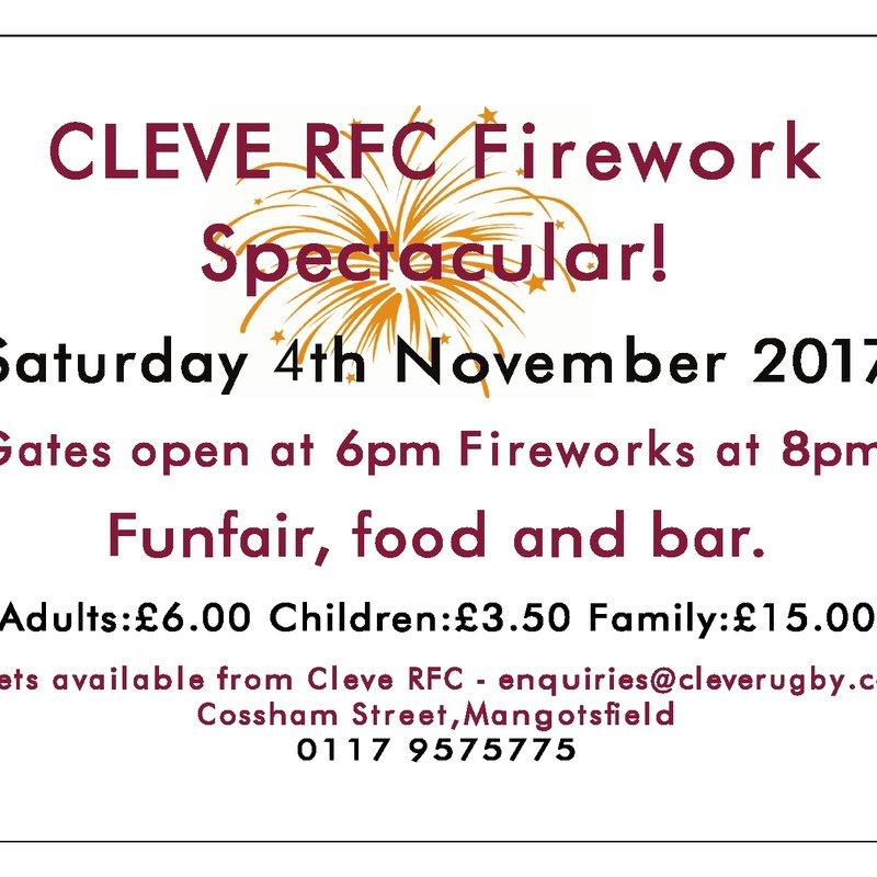 Cleve RFC Fireworks Spectacular