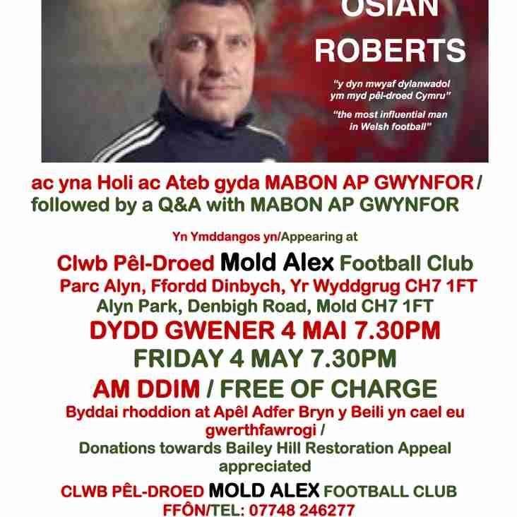 Mold Town Mayor Presents - An Evening With Osian Roberts