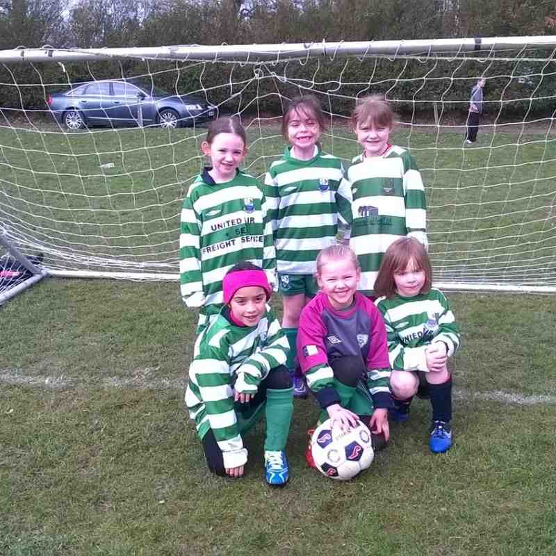 Girls U8 friendly Vs Lusk 13th of March