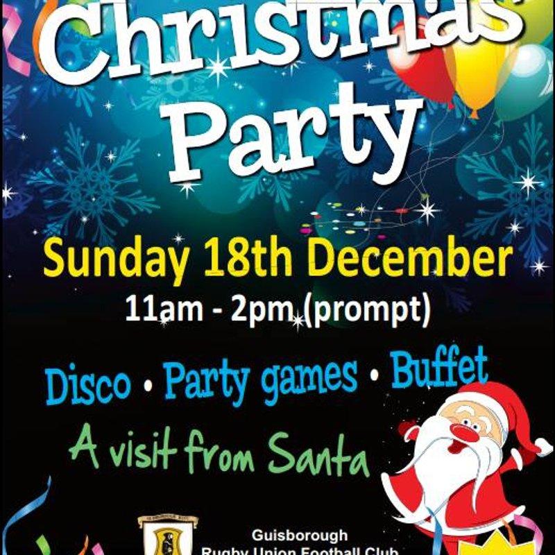 Minis Xmas Party Sunday 18th Dec 11am till 14 pm