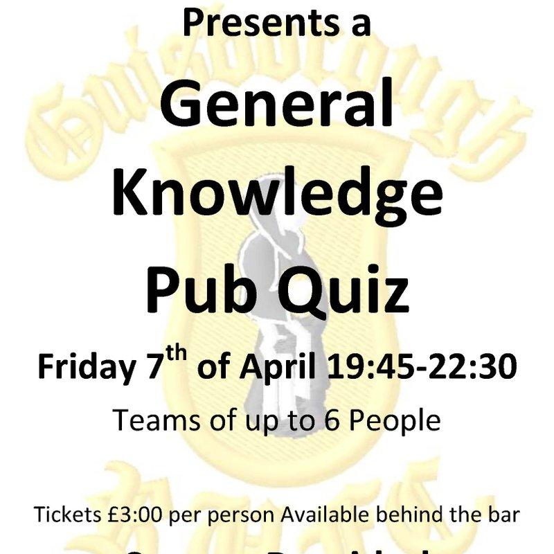 Quiz Night Friday 7th April