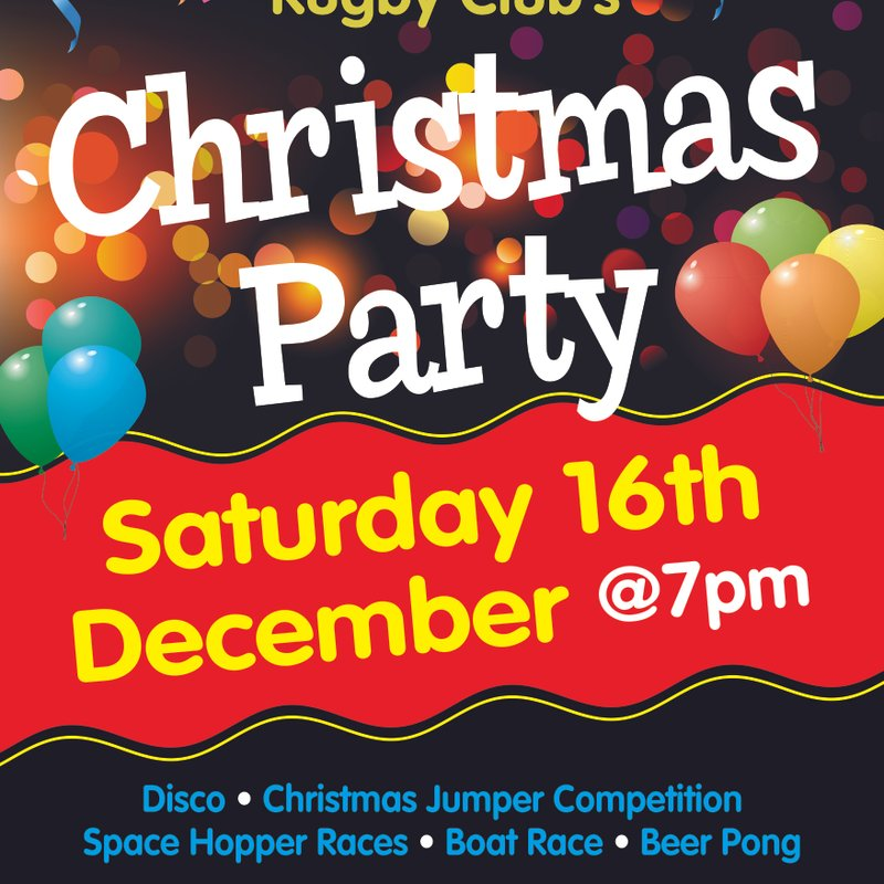 Xmas Party -Sat. 16th December 7pm