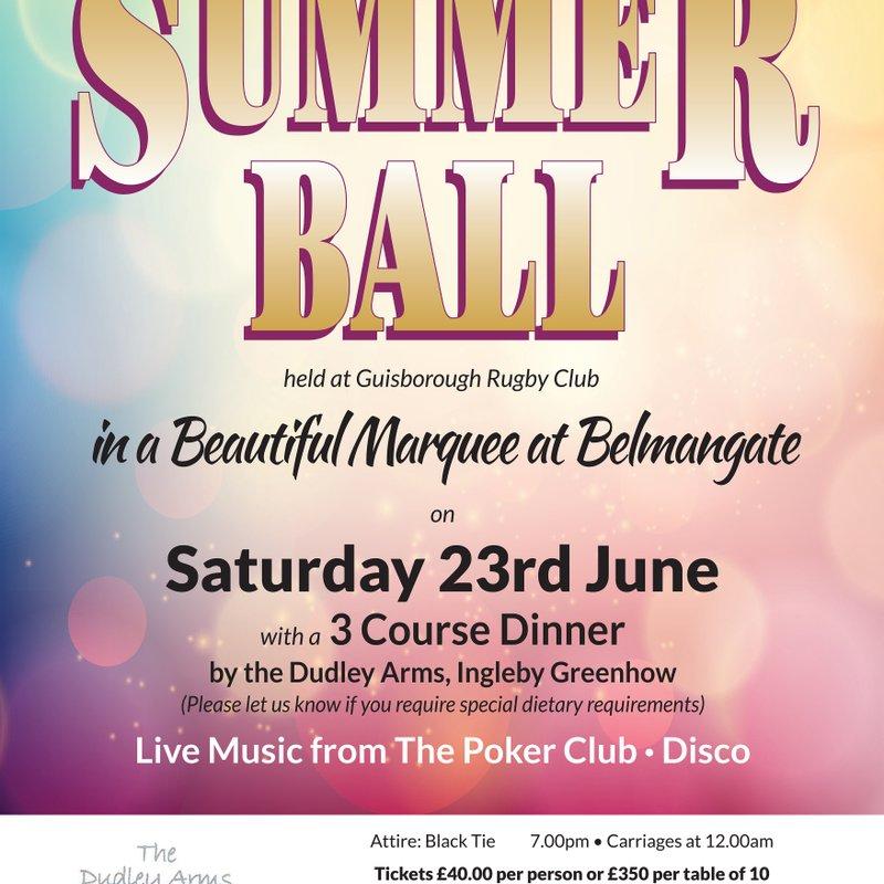 Summer Ball , Saturday 23rd June