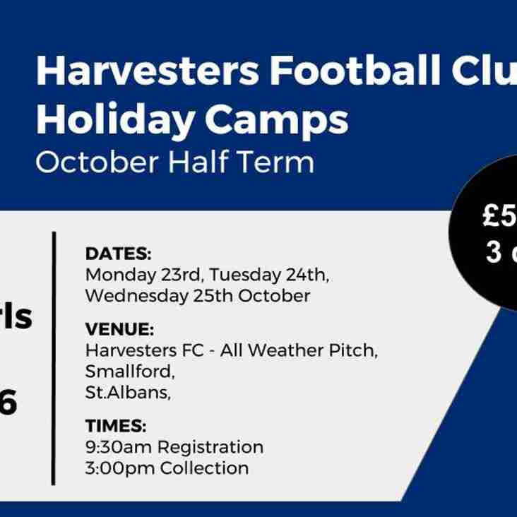 Harvesters FC - Holiday Camps - October Half Term